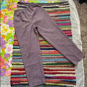 PURPLE ABSTRACT ETCH TROUSERS size 16